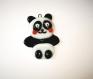 Panda pendentif verre