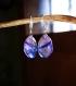 Boucles d'oreilles en verre fusing glass