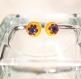 Boucles d'oreilles puces millefiori en verre fusing glass