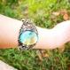Bracelet vintage verre cristaux