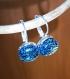 Boucles d'oreilles en verre vert dichroique fusing glass