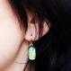 Boucles d'oreilles en verre dichroique fusing glass