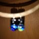 Boucles d'oreilles en verre  dochroique fusing glass