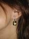 Boucles d'oreilles en verre or fusing glass