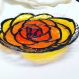 Plat assiette rose fusion fusing glass