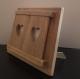 Cadre photo en bois soufflé, avec des volets en forme de coeur