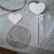 Pique décoratif de coeur en papier