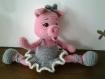 Décoration de chambre amigurimi cochon ballerine