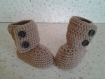 Chaussons bottes a boutons