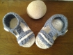 Chaussons sandales au crochet de 6 a 12 mois
