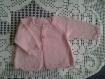 Gilet d'été pour petite fille en coton rose