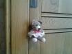 Amigurumi en coton petit ourson de décoration a suspendre