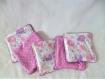 Lot 2 bavoirs bandana et 5 lingettes éléphant 0 à 12 mois