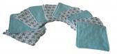 Panier en tissu reversible étoile bleu et 10 lingettes assortis