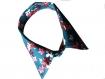 Textile necklace - collier textile col de chemise bleu et rose