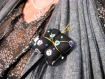 Lovely little butterfly with sequins, pin or hair clip - broche ou pince à cheveux