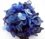Echarpe à volants cancans bleus dégradés