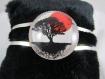 """Bracelet rigide """"arbre noir & rouge"""" - taille unique ref bv003"""