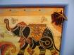 Cadre en bois à poser/à suspendre - coloris bleu ciel & thème indou