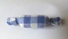 Barrette en tissu vichy bleu