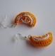 Boucles d'oreille orange au crochet