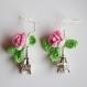 Boucles d'oreille paris romantiques au crochet