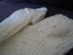 Mitaines femmes laine blanche brodées.