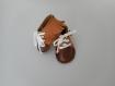 Chaussures, chaussons bébé cuir, cadeau naissance.