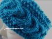 Bandeau hiver tricoté turquoise 'alya'