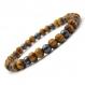 Bracelet style surfeur/surf homme/femme perles naturelle bois marron Ø 6mm et hématite noir Ø 5mm a_149