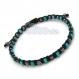 Bracelet homme/men's perles pierre naturelle turquoise, hématite 4mm + fil nylon