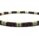 Collier style surfeur/surf homme/femme perles pierre naturelle véritable turquoise stabilisée bois cocotier/coco Ø 8mm