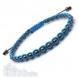Bracelet style shamballa homme/femme perles hématite noir 4mm+ fil nylon turquoise