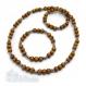 Ensemble collier + bracelet style surfeur/surf homme/femme perles naturelle bois + inox/inoxydable