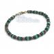 Bracelet homme/femme perles pierre naturelle véritable turquoise bois naturelles cocotier/coco hÉmatite 4mm fermoir mousqueton
