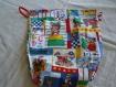 Sac a jouets en cotonnade multicolore motif oursons