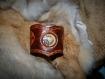 Bracelet en cuir inspiration steampunk avec incrustation et engrenages