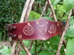 Bracelet en cuir motifs engrenages steampunk