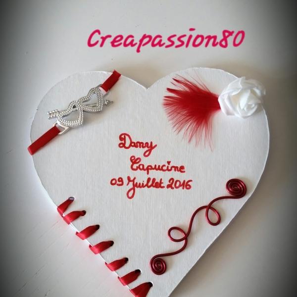 Livre D Or Forme Coeur Theme Amour Rouge Et Blanc Pour