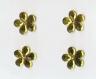 Cabochons forme fleur jaune 2 centimètres