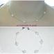 Parure collier /bracelet perles nacrées blanches,mariage/soirée