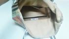 Le sac cabas en simili cuir marron et coton imprimé