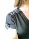 """Robe """"pin up"""" en noir et blanc,la robe à effet cache coeur , une robe pour danser !"""
