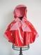 La cape-capuche de pluie doublée du chaperon rouge t 4-6  ans