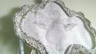 Cadre nuage gris argent au crochet , ange et attrape-rêve romantique pour chambre de bébé
