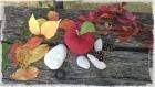 Lot de 3 pommes d'amour pour décoration