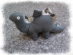 Doudou / peluche dinosaure stégosaure