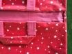 Sac a tarte toile enduite rose avec étoiles blanches
