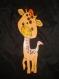 Girafe en bois avec personnalisation de votre choix
