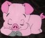 Petit cochon couché avec personnalisation de votre choix